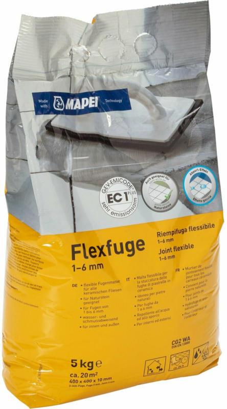 Flexfuge für 1 - 6 mm Fugenbreite Grau 5 kg