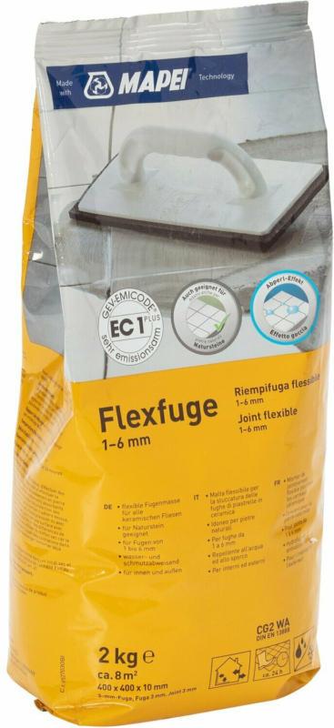 Flexfuge für 1 - 6 mm Fugenbreite Grau 2 kg