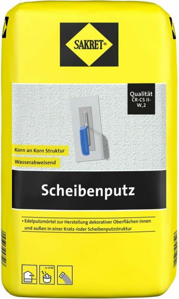 Sakret Scheibenputz Weiß 2 mm Körnung 25 kg