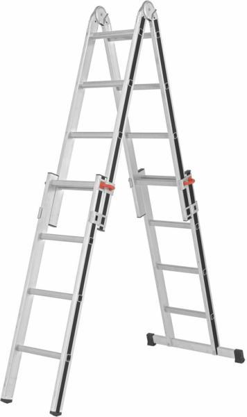 Hymer Teleskop-Leiter 4 x 4 Sprossen Arbeitshöhe 4,37 m