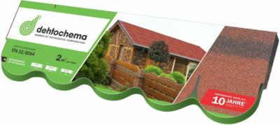 Bitumen-Biberschindel Rot 2 m²/ Paket