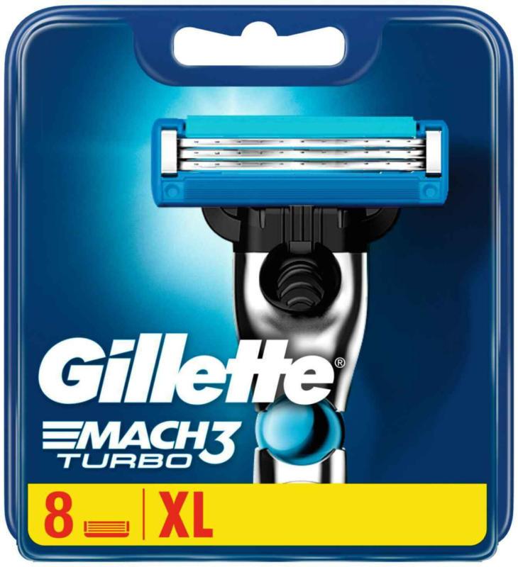 Gillette Lames De Rasoir Mach 3 Turbo 8er -