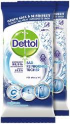 Dettol Lingettes nettoyantes pour salle de bains, 2 x 60 lingettes -