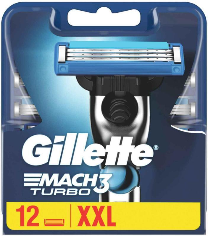 Gillette  Mach3 Turbo Lame di rasoio 12 pezzi -