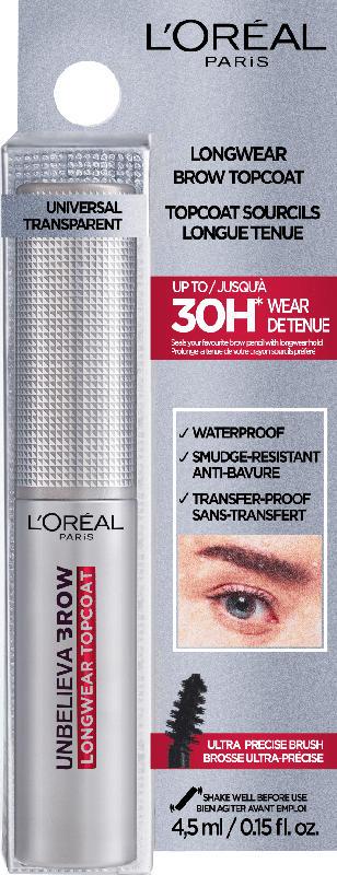 L'ORÉAL PARIS Augenbrauengel Unbelieva'Brow Longwear Topcoat 00 Transparent