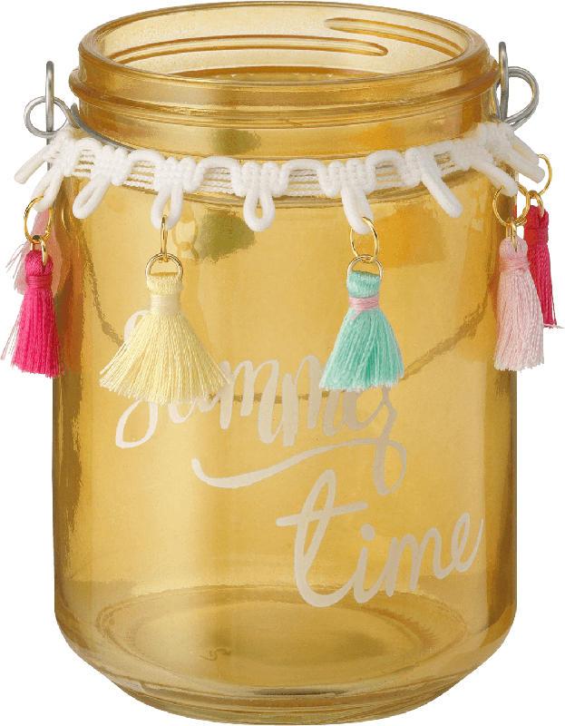 Dekorieren & Einrichten Glaswindlicht 'summer time' gelb