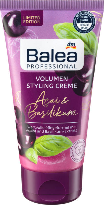 Balea Volumen Styling Creme Acai & Basilikum