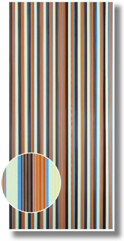 Streifenvorhang braun-beige