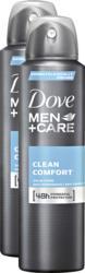 Dove Men + Care Antitranspirant-Spray Clean Comfort, 2 x 150 ml