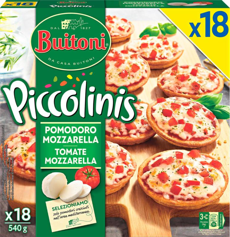 Buitoni Piccolinis Minipizzas Tomate und Mozzarella, 18 Stück, 540 g
