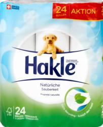 Hakle Toilettenpapier Natürliche Sauberkeit, 3-lagig, 24 x 150 Blatt