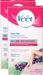 Veet Kaltwachsstreifen für Körper & Beine, 2 x 20 Streifen, 2 x 2 Pflegetücher