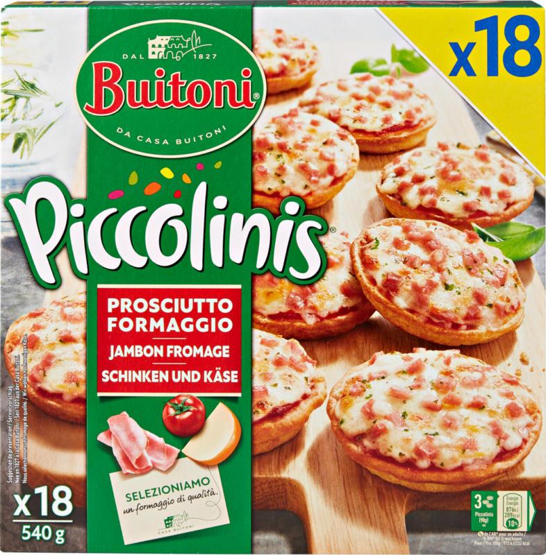 Buitoni Piccolinis Minipizzas Prosciutto, 18 Stück, 540 g