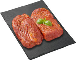 Black Angus BBQ Rindsteak, mariniert, Uruguay, 2 x ca. 200 g, per 100 g