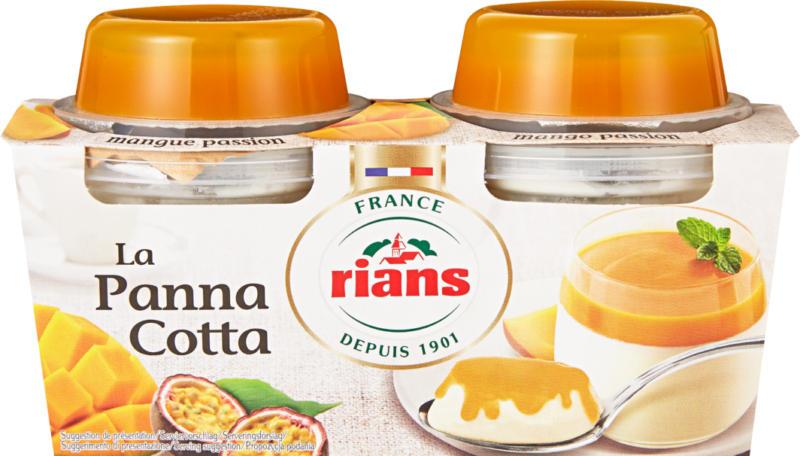 Rians Panna Cotta, Mango-Passionsfrucht, 2 x 120 g