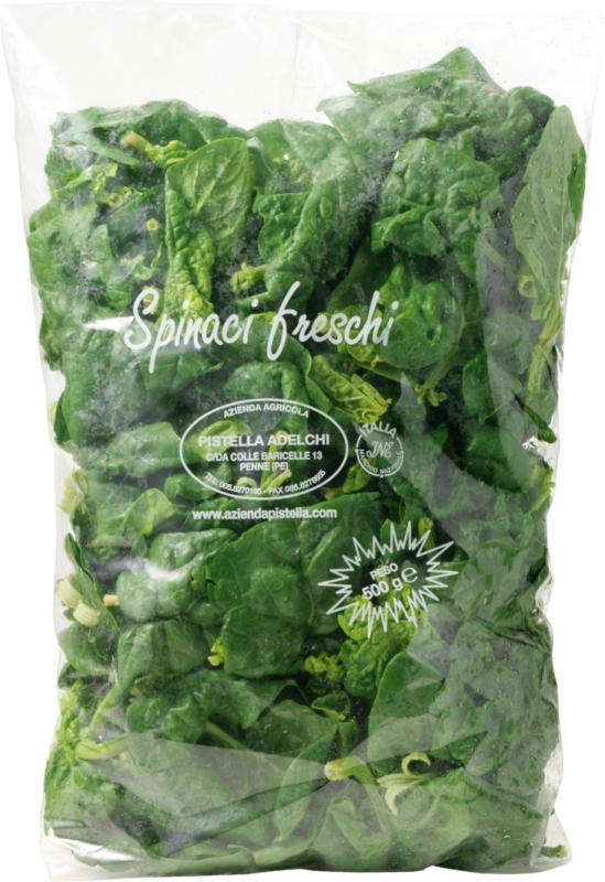 Frischer Spinat, Schweiz, 500 g