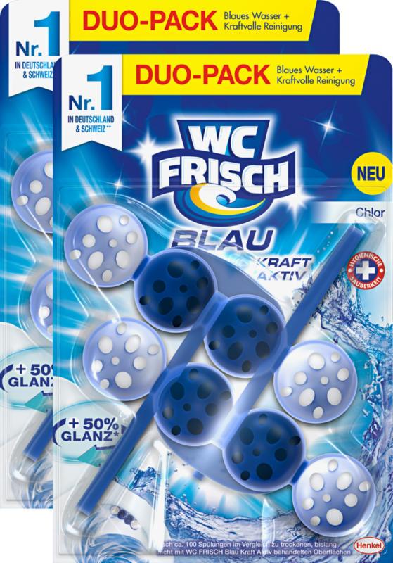 WC Frisch Kraft-Aktiv Duftspüler, Blau Chlor, 2 x 50 g