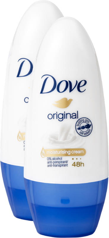 Dove Deo Roll-on Woman Original, 2 x 50 ml