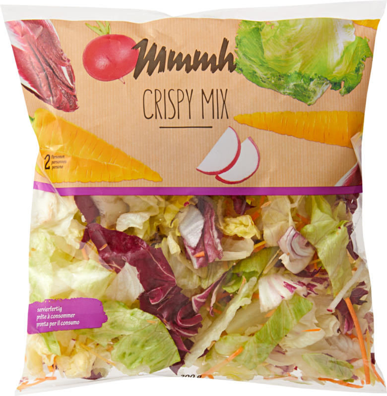 Mmmh Mischsalat Crispy Mix , servierfertig, Herkunft siehe Verpackung, 200 g