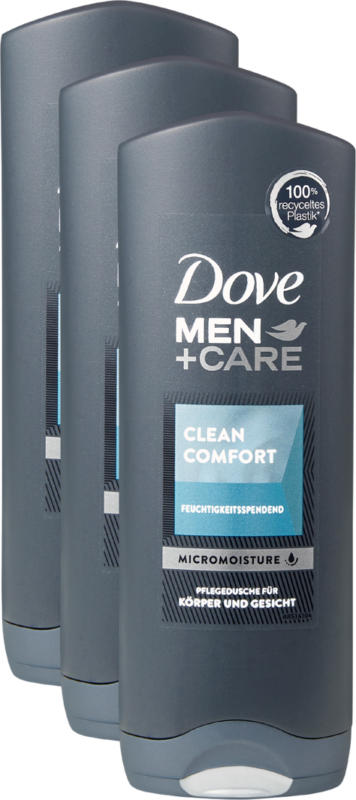 Dove Men + Care Pflegedusche Clean Comfort , 3 x 250 ml