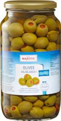 Majestic Oliven, grün, gefüllt mit Peperonipaste, 575 g
