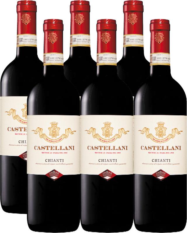 Castellani Chianti DOCG, 2019, Toskana, Italien, 6 x 75 cl