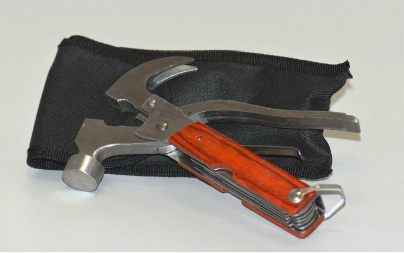 """Werkzeug """"Multitool"""", silber/ braun"""