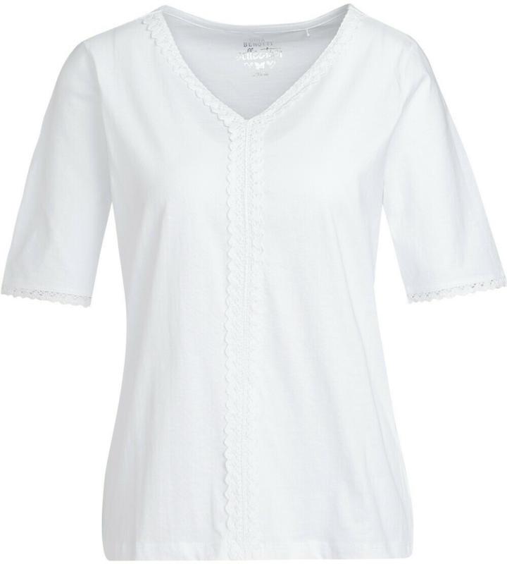 Damen T-Shirt mit Häkelspitze (Nur online)
