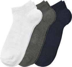 3 Paar Herren Sneaker-Socken im Set (Nur online)