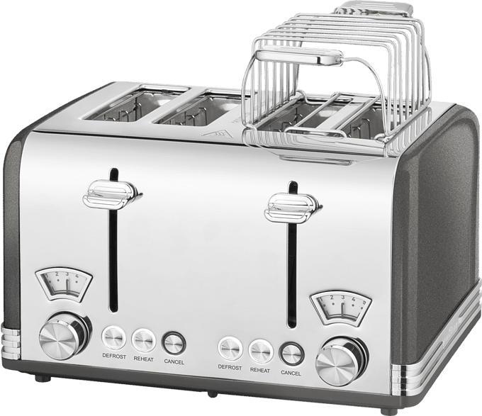 4-Schlitz Toaster Vitange PC-TA 1194 Anthrazit