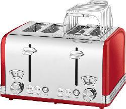 4-Schlitz Toaster Vitange PC-TA 1194 Rot