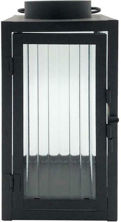 Laterne Iron aus Metall in Schwarz