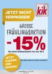 KiK kik - Große Frühlingsaktion - bis 30.05.2021