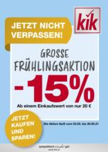 kik - Große Frühlingsaktion