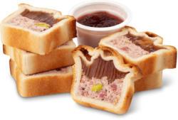 Assiette pâté apéro avec sauce Cumberland