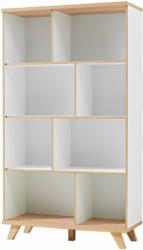"""Regal """"Helsinki"""", skandinavisches Design, 96x171x40 cm, weiß/Sanremo-Eiche-Nachbildung"""