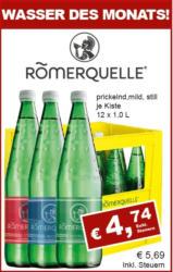 Römerquelle prickelnd, mild, still