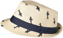 Jungen Strohhut mit Hai-Allover (Nur online)