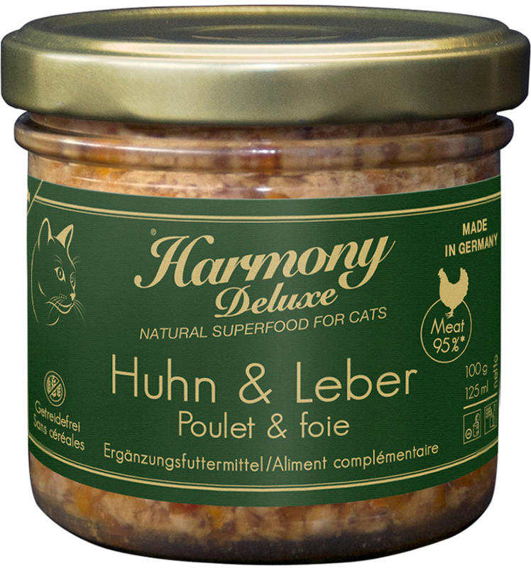 Harmony Cat Deluxe Nassfutter Huhn mit Leber 6x100g