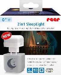 Reer 2in1 SleepLight hellgrau