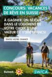 Concours: Vacances en Suisse