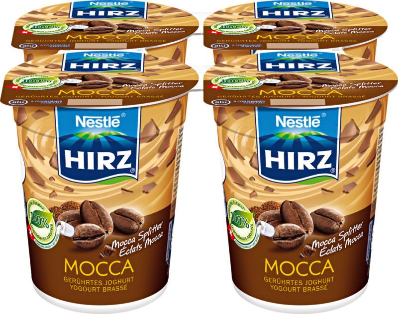 Yogourt Hirz, Eclats de moka, 4 x 180 g