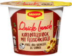 Denner Maggi Quick Lunch, Purée de pommes de terre avec quenelles de viande, 46 g - au 17.05.2021