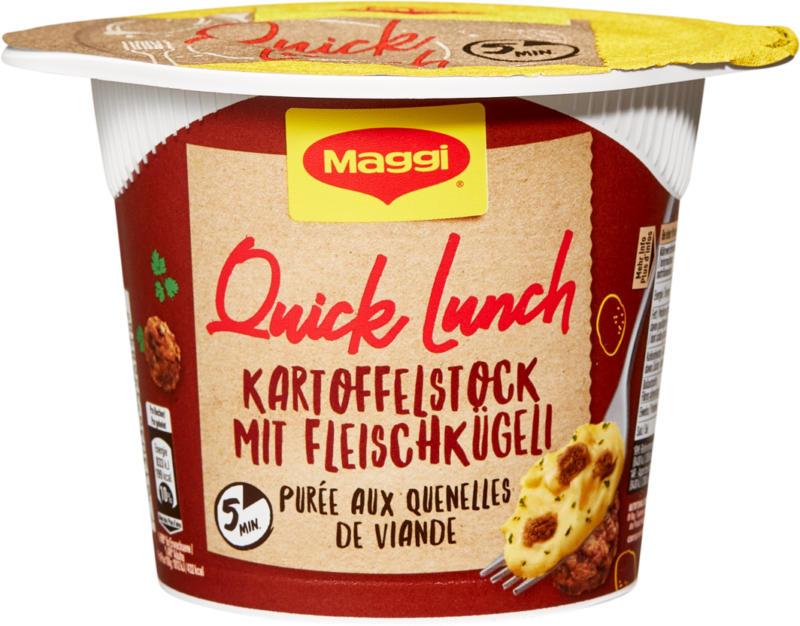 Maggi Quick Lunch, Purè di patate con polpettine di carne, 46 g