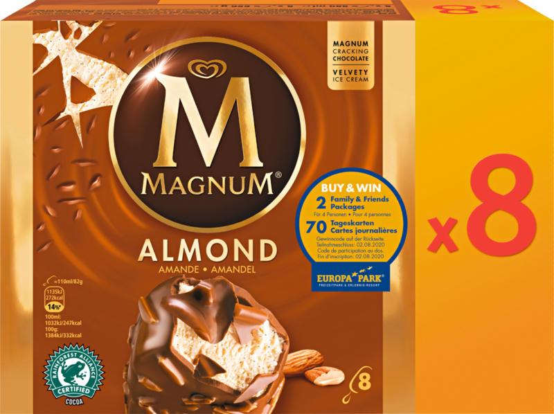 Magnum Glacé Almond, 8 x 110 ml