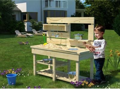 Akubi Kinderspielgerät Matschküche Matzi 86 cm x 119,5 cm x 44 cm Fichte Natur