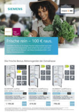 Frische rein – 100 € raus.