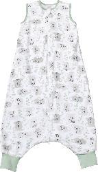 PUSBLU Kinder Schlafsack 0,5 TOG, 110 cm, in Bio-Baumwolle, weiß, grau