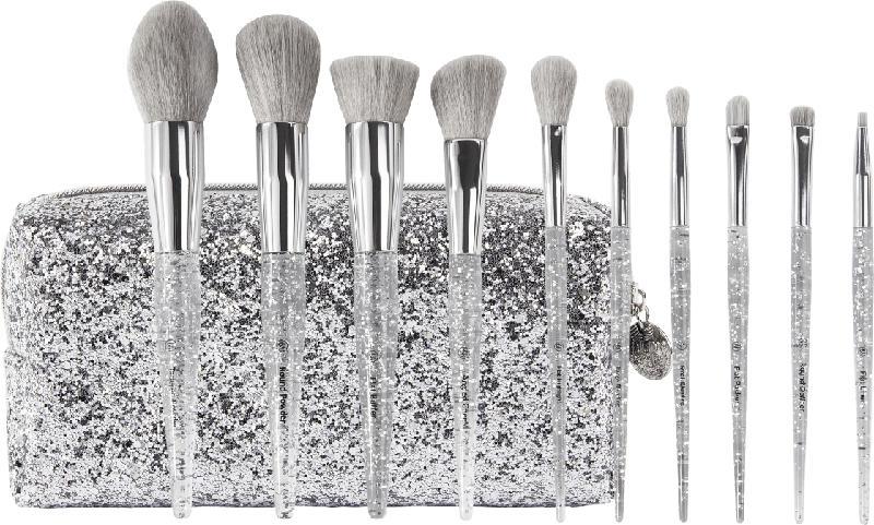 BH Cosmetics Pinselset Remix Dance Brush Beat - 10 teilig mit Kosmetiktasche