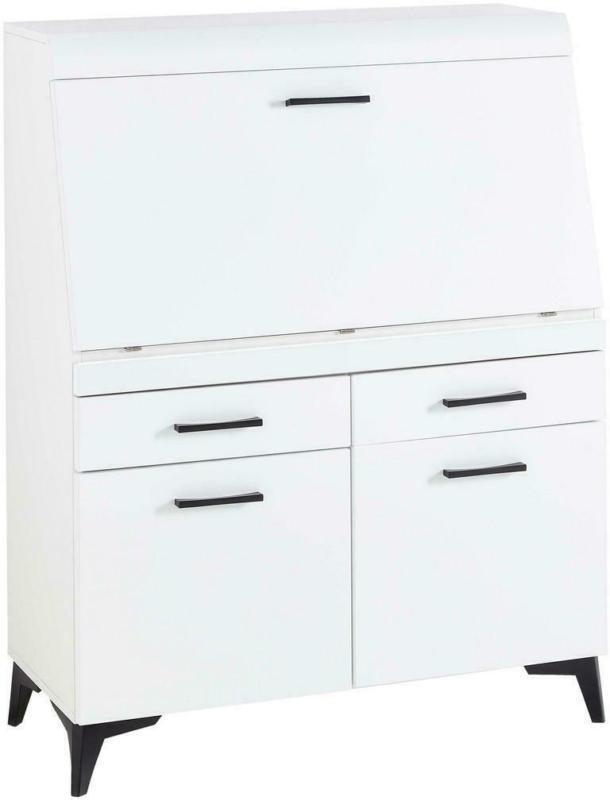 Sekretär 98/42/124 cm in Weiß